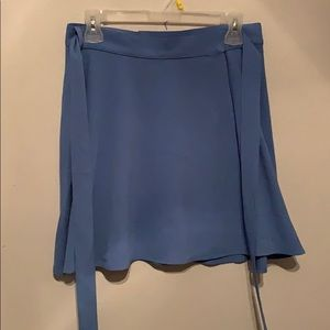 American Apparel powder blue wrap skirt